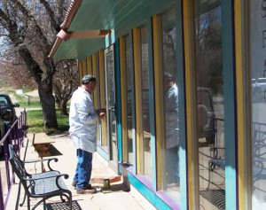 overall view Alex painting trim