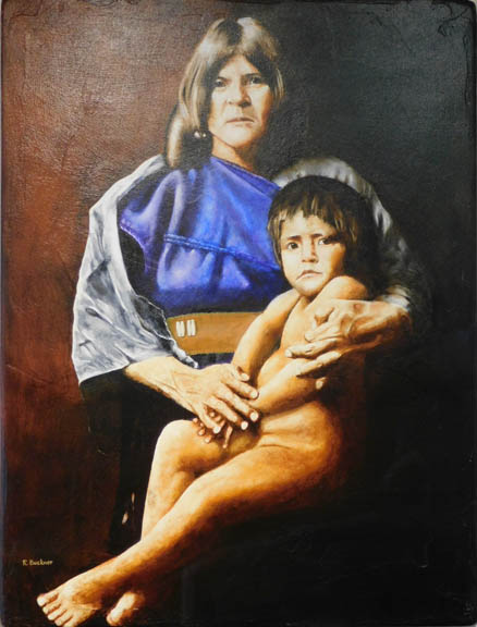 Robert Buckner - Hopi Mother and Child