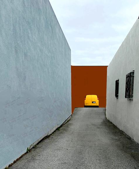 low res yellow van